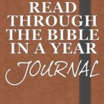 read through the bible in a year journal
