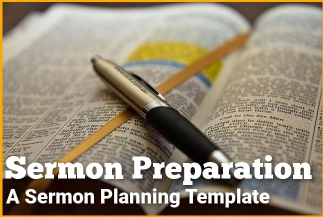 sermon preparation form