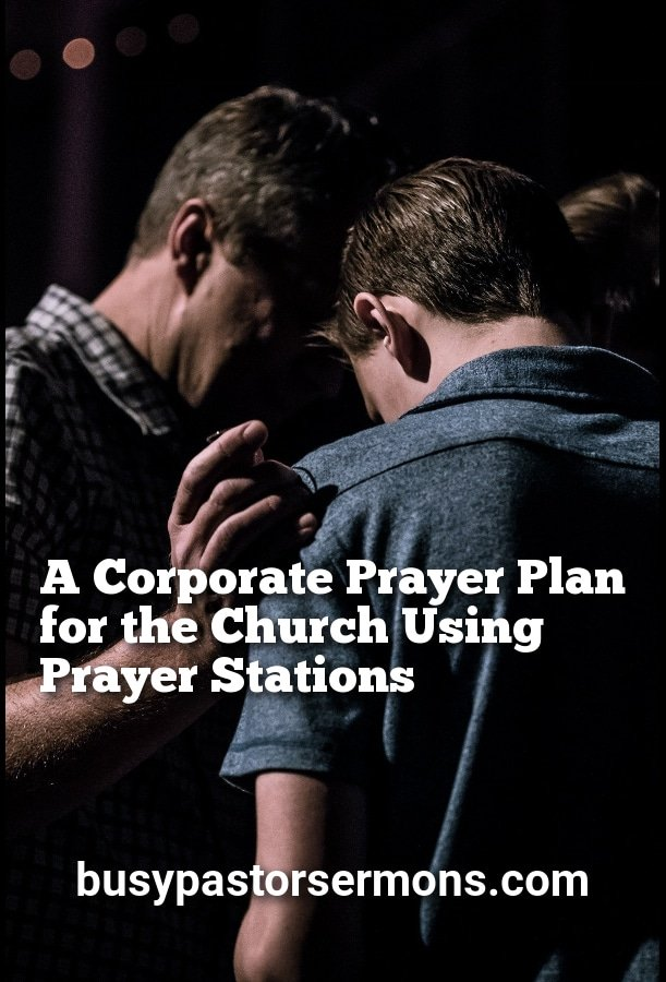 Share Corporate Prayer Plan for the Church using Prayer Stations