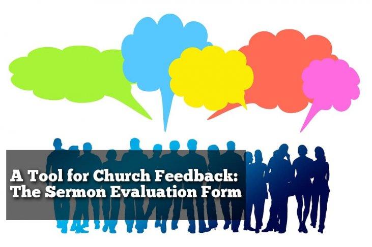 sermon evaluation form keller  A Tool for Church Feedback: The Sermon Evaluation Form